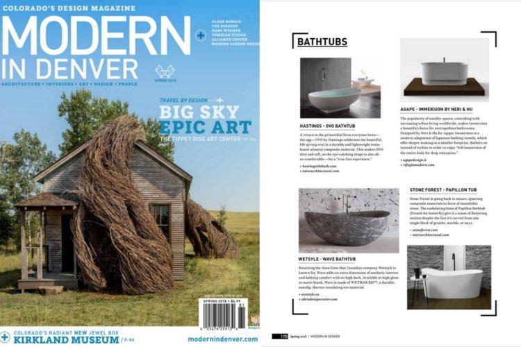 Modern in Denver spring tabloid - wave bathtub