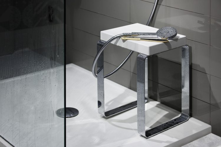 cube shower bench