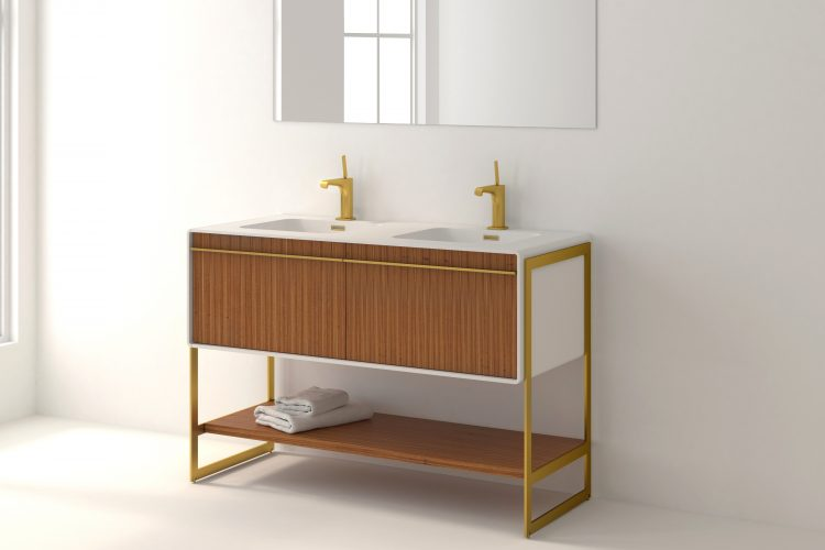 deco floor mount vanity