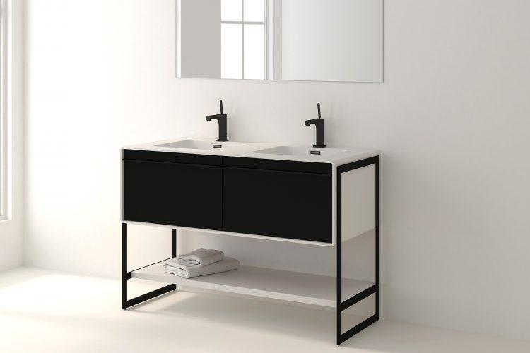 deco floor mount vanity