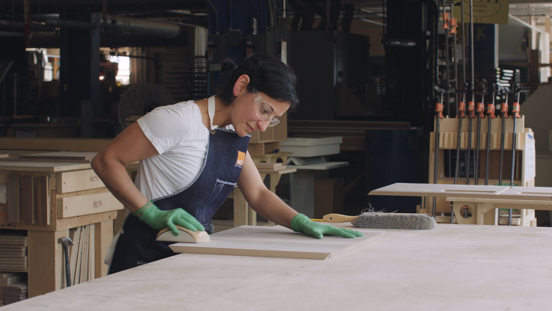 Woman crafting furniture