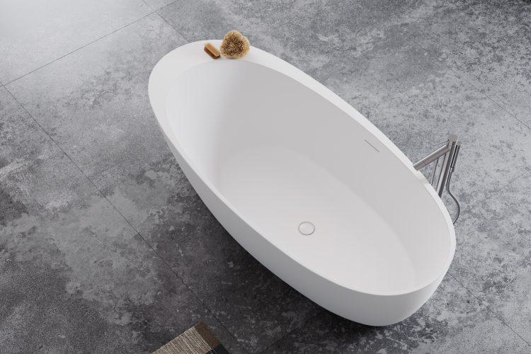 Mood bathtub top view